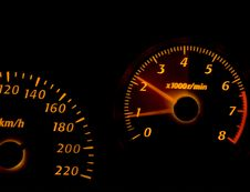 Free Dashboard Gauges Royalty Free Stock Images - 8365089