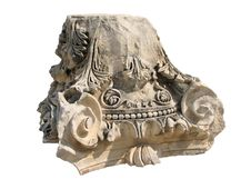 Free Capital Of The Roman Column Over White Royalty Free Stock Images - 8365189
