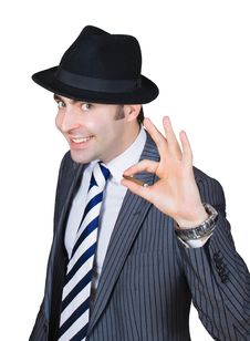 Free Retro Businessman Smoke A Cigarette Stock Photo - 8365210