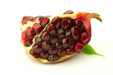 Free Pomegranate With Leaf Royalty Free Stock Photo - 8365595