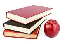 Free Books And Apple Stock Photo - 8366060