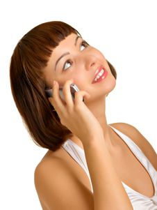 Free Portrait Of A Girl With A Cell Phone Royalty Free Stock Images - 8366679