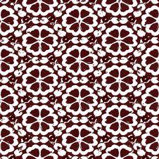 Free Grunge Brown Flower Pattern Royalty Free Stock Image - 8366946