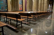Free Pew In Cathedral Royalty Free Stock Photo - 8367065