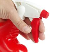 Free Red Sprayer  In Hand Royalty Free Stock Images - 8367209