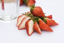 Strawberries Slices Stock Photos