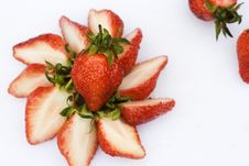 Strawberries Slices Stock Photo