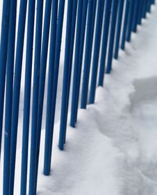 Free Railing In Snow Royalty Free Stock Photos - 8367898