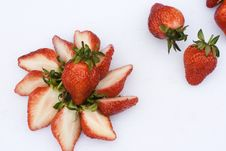 Strawberries Slices Royalty Free Stock Photos