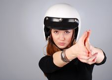 Free Woman In White Helmet Royalty Free Stock Photos - 8367988