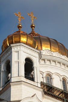 Fragment Of Temple Of Christ Of  Savior In Moscow Stock Image