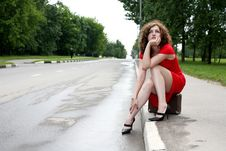 Free Hitchhiker Royalty Free Stock Photography - 8368867