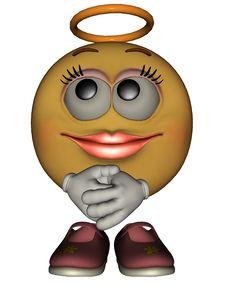 Free Single Female Emoticon Royalty Free Stock Photo - 8368895
