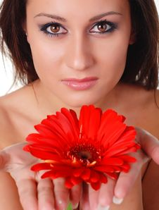 Free Woman And Flower Stock Photo - 8369050
