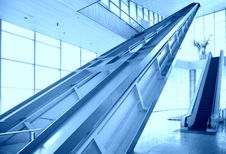 Free Glass Hall With Escalator Stock Photography - 8369522
