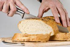 Free Cuttin The Bread Royalty Free Stock Image - 8369666