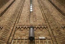 Free Light Sconce On Brick Wall Stock Image - 8369831