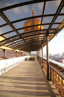 Covered Footbridge To Temple Of Christ Of Savior Stock Image