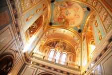 Interior Of Temple Of Christ Of Savior In Moscow Stock Photos
