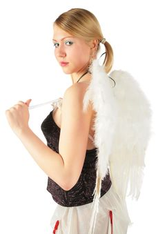 Free Girl In Angel S Costume Stock Image - 8370251