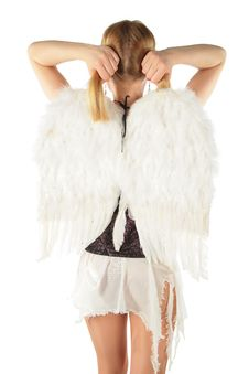 Free Girl In Angel S Costume From Back Stock Photos - 8370273