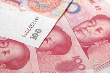 Heap Chinese Bills Royalty Free Stock Photography