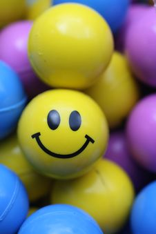 Free Smile Face Ball Stock Image - 8370501
