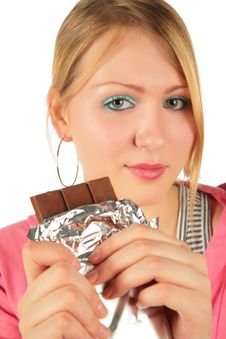 Free Young Girl With Chocolate Stock Images - 8370514