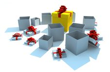 Free Opened Gift Boxes Royalty Free Stock Photo - 8370515