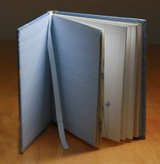 Open Book With Bookmark Royalty Free Stock Photo