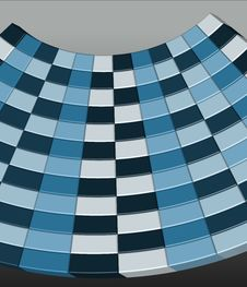 Blue 3D Checkerboard - Vector Illustration Royalty Free Stock Image