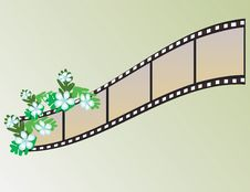 Free Banner In The Form Of Film Stock Image - 8371421