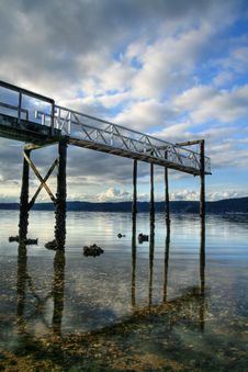 Free View From Under The Dock Royalty Free Stock Photo - 8371695