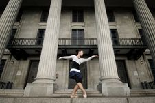Free Female Dancer In The Outdoor Stock Photography - 8371962