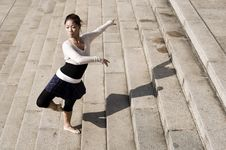 Free Female Dancer In The Outdoor Stock Image - 8372541