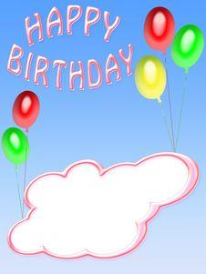 Happy Birthday Card (03) Stock Photos