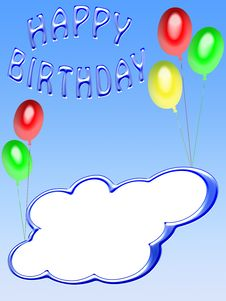 Free Happy Birthday Card (04) Royalty Free Stock Photos - 8373238