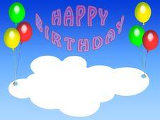 Free Happy Birthday Card (05) Royalty Free Stock Photos - 8373278