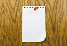 Free Single Blank Note Paper Attached Stock Photos - 8373463