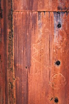 Old-fashioned Metal Background Royalty Free Stock Photography