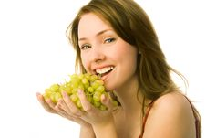 Free Beautiful Woman With Grapes Royalty Free Stock Photos - 8373598