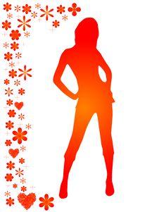 Free Girl Silhouette Royalty Free Stock Photos - 8373658
