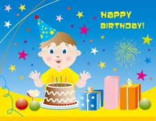 Free Kid Happy Birthday Background Stock Images - 8374514