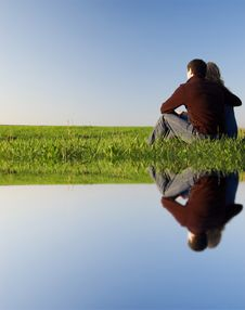 Free Guy And Girl In The Field Stock Image - 8374621