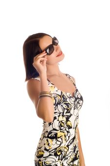 Free Woman Wearing The Big Modern Sunglasses Stock Photos - 8374713