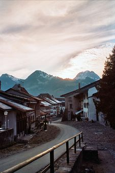 Late Afternoon At Medieval Town Royalty Free Stock Photo