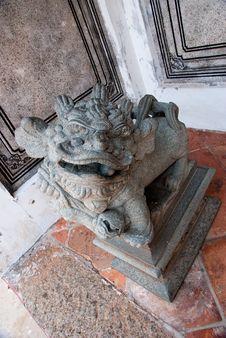 Free Religious Stone Lion Stock Photo - 8375330