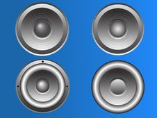 Free 4 Vector Loudspeakers Royalty Free Stock Photography - 8375827