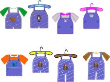 Free Kids Clothing Illustrations Royalty Free Stock Photography - 8376227