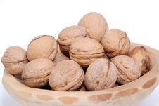 Nuts In Dish Stock Images